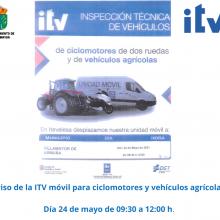La ITV móvil vendrá a Villamayor el próximo 24 de mayo del 2021